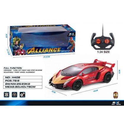 RC Remote Control Super Hero Car Iron Man Spider Man Captain America Batman