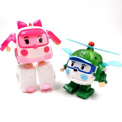 Kereta Wira Budak Mainan Transformasi 6 IN 1 Kids Toy Poly Car Heros